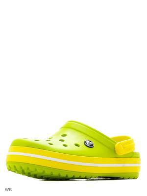 Сабо CROCS. Цвет: желтый, светло-зеленый