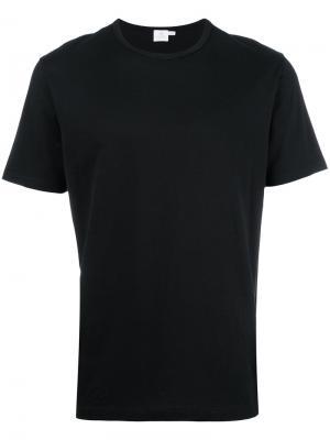 Базовая футболка Sunspel. Цвет: чёрный