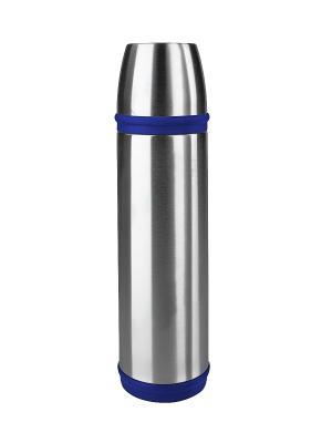 Термос EMSA CAPTAIN 0.7л нерж.сталь/синий 502473. Цвет: серый, синий