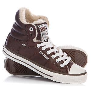 Кеды кроссовки утепленные женские  Atoll Dark Brown/White British Knights. Цвет: коричневый