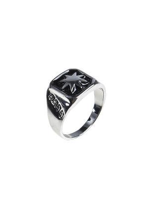 Кольцо Migura. Цвет: серебристый, черный
