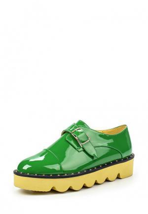 Ботинки Elsi. Цвет: зеленый
