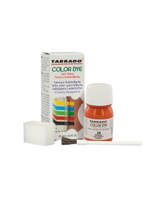 Краситель  для гладкой кожи TDC01 COLOR DYE, стекло, 25мл. (028 красный апельсин) Tarrago. Цвет: оранжевый