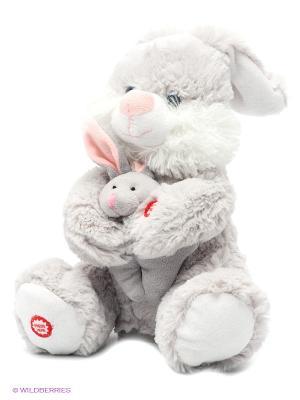Мягкая игрушка Мама и малыш Fluffy Family. Цвет: серый
