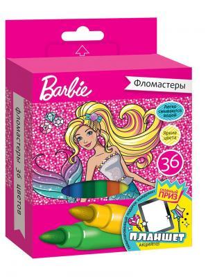 Фломастеры Mattel Barbie 36 цветов. Цвет: розовый