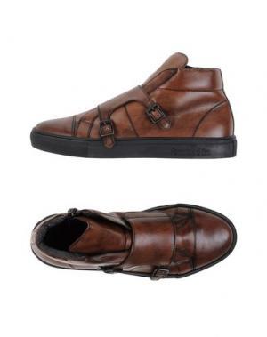 Высокие кеды и кроссовки PANTOFOLA D'ORO. Цвет: коричневый