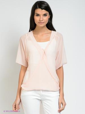 Блузка BSB. Цвет: бледно-розовый
