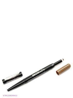 Карандаш для бровей Brow Satin, + заполняющая пудра, оттенок 02, Коричневый, 7,1 г Maybelline New York. Цвет: светло-коричневый