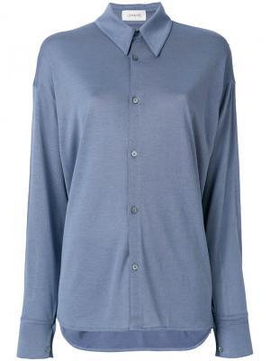 Рубашка с длинными рукавами Lemaire. Цвет: синий