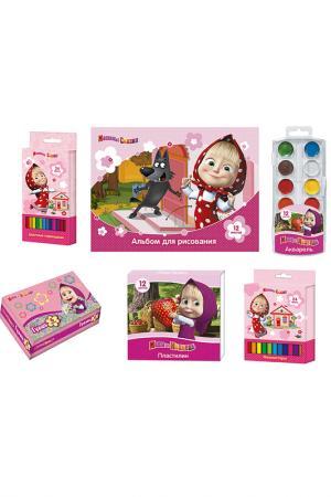 Набор детского творчества 6 пр Маша и Медведь. Цвет: розовый