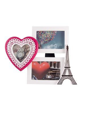Фоторамка-коллаж на 3 фото Русские подарки. Цвет: черный, красный, белый