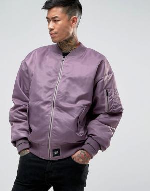 Sixth June Фиолетовый свободный бомбер MA1. Цвет: фиолетовый