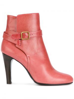 Buckle strap detail ankle boots Michel Vivien. Цвет: розовый и фиолетовый