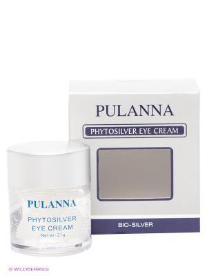 Крем для век -Phytosilver Eye Cream 21г PULANNA. Цвет: прозрачный, серый