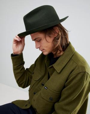 Brixton Мягкая фетровая шляпа. Цвет: зеленый