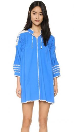 Связанное крючком платье Oaxaca Carolina K. Цвет: голубой