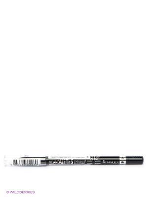 Стойкий карандаш для век Scandaleyes Kohl 001 тон black Rimmel. Цвет: черный