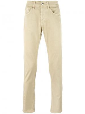 Классические брюки чинос Dondup. Цвет: телесный