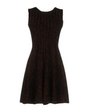 Короткое платье ANTONINO VALENTI. Цвет: коричневый