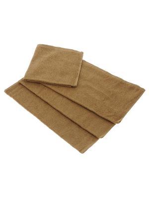 Махровое полотенце кофе с молоком 70*140-100% хлопок, УзТ-ПМ-114-08-23 Aisha. Цвет: коричневый