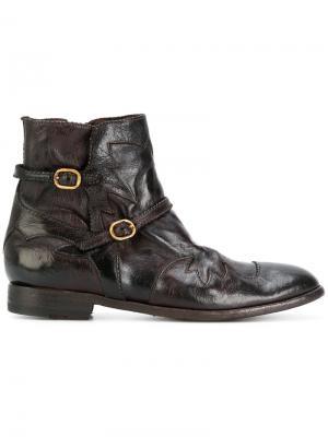 Ботинки с пряжками сбоку Ink. Цвет: коричневый