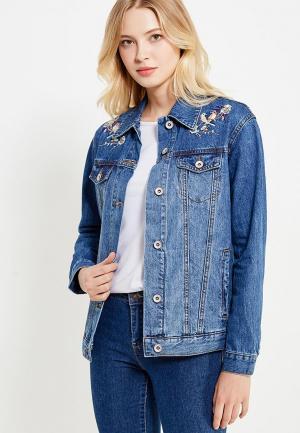 Куртка джинсовая Incity. Цвет: синий