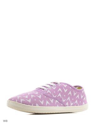 Кеды CentrShoes. Цвет: фиолетовый