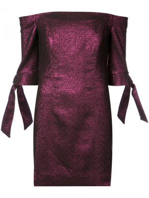 Приталенное платье с отделкой металлик Milly. Цвет: розовый и фиолетовый