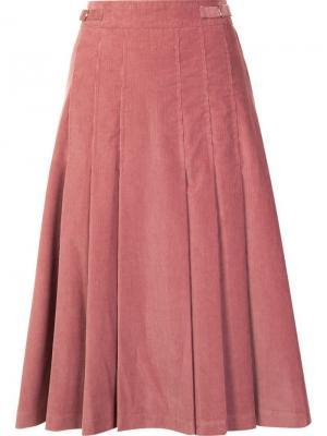 High-waisted pleated skirt Gabriela Hearst. Цвет: розовый и фиолетовый