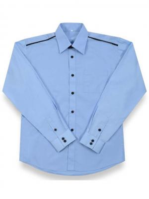 Рубашка длинный рукав Pinetti. Цвет: голубой