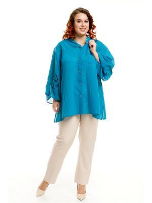Рубашка Luxury Plus. Цвет: бирюзовый