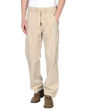 Повседневные брюки NWY NEVER WITHOUT YOU. Цвет: бежевый