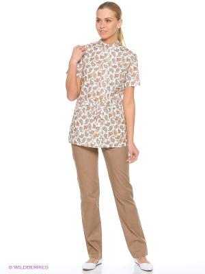 Блузка MediS. Цвет: светло-коричневый
