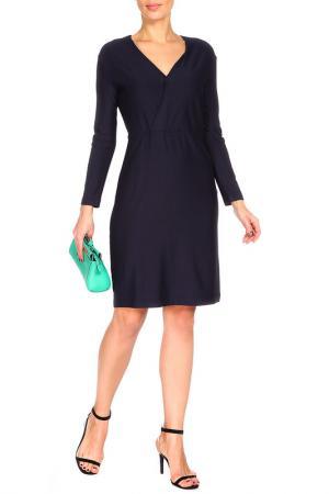 Трикотажное платье с V-образным вырезом BGN. Цвет: deep navy