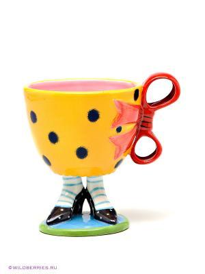 Чашка Туфельки Pavone. Цвет: оранжевый, черный
