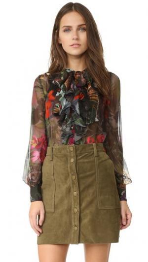 Блуза Mood с оборками Warm. Цвет: микс драгоценных камней и цветов