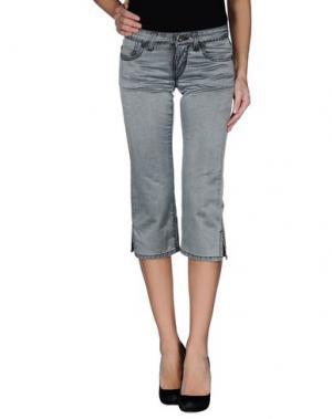 Джинсовые брюки-капри PARASUCO CULT. Цвет: серый