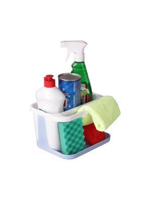 Подставка для моющих средств (бело-голубой) Альтернатива. Цвет: белый, голубой