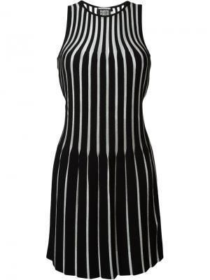 Платье с гофрированным дизайном Fausto Puglisi. Цвет: чёрный