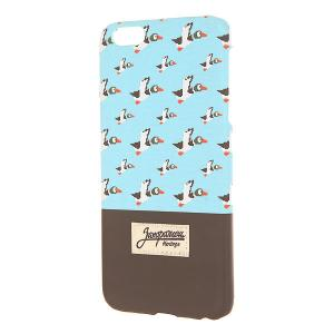 Чехол для iPhone 6 Plus  Дичь 86 Blue/Dark Brown Запорожец. Цвет: синий,коричневый