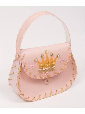 Набор для шитья и вышивания сумка Сумочка феи Матренин Посад. Цвет: розовый, желтый
