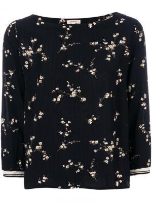Floral print blouse Bellerose. Цвет: чёрный