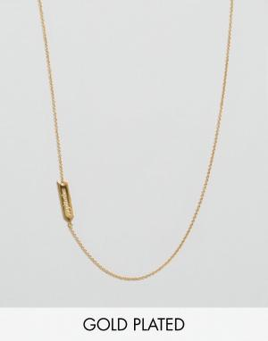 Gorjana Ожерелье со знаком зодиака Стрелец. Цвет: золотой