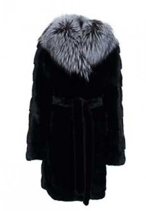 Пальто меховое норка MALA MATI. Цвет: черный