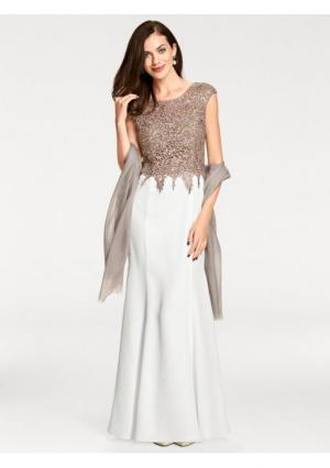 Вечернее платье ASHLEY BROOKE by Heine. Цвет: серо-коричневый/кремовый