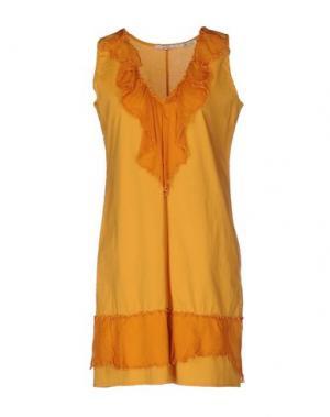 Короткое платье FAIRLY. Цвет: охра
