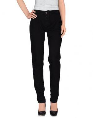 Джинсовые брюки E-GÓ. Цвет: черный