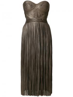 Платье Ariyade Maria Lucia Hohan. Цвет: коричневый