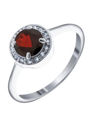 Кольцо Teosa. Цвет: серебристый, красный