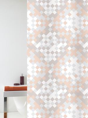 Штора д/ванн 180х200 Fragmmento беж. (шт.) Bacchetta. Цвет: светло-серый, белый, светло-оранжевый